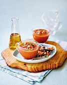 Gazpacho (cold tomato and vegetable soup, Spain)