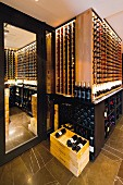 The wine cellar of the restaurant Geranium in Copenhagen, Denmark
