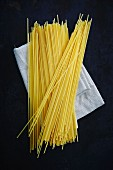 Spaghetti on a fabric napkin