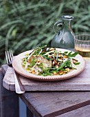 Fennel salad with pine nuts and rocket