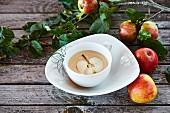 Apfelschaumsuppe
