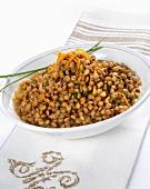 Insalata tiepida di lenticchie (lukewarm Italian lentil salad)