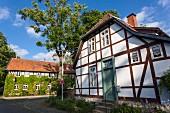Fachwerkhäuser am Klostergang in Riddagshausen, Braunschweig