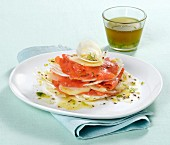 Fennel & salmon millefeuille