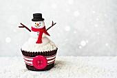 Ein Cupcake-Schneemann