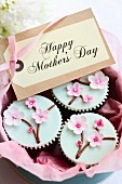 Gift box of Mother s day cupcakes