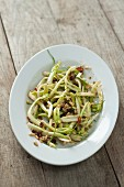 Puntarelle alla ligure (with pine nuts and raisins)