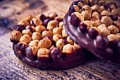 Hazelnuts in chocolate