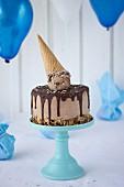 Frozen-Nutella-Cheesecake für eine Kinderparty