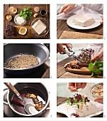 Seidentofu mit körnigem Frischkäse, Sojasauce & Bonitoflocken zubereiten