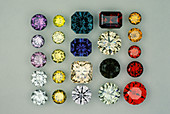 Cubic Zirconium Oxide Gemstones