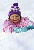 Young girl in the snow