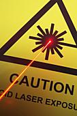 Laser Danger Warning Sign