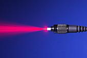 Fiber Emitting Laser Light