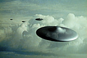 Computer Illustration of UFO's
