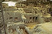 Excavation of Akrotiri,Greece