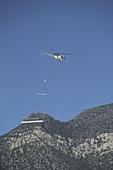 Helicopter Surveying Land