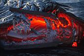 Pahoehoe Lava Plates,Kilauea Volcano