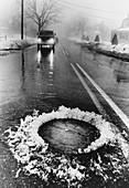 Pothole in the Rain