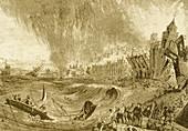 Tsunami at Lisbon