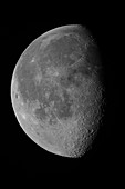 Waning Gibbous Moon and Lunar Landscape