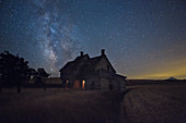 Old Farmhouse and Starry Sky