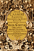 Title page from Giulio Casserio's Anatomy