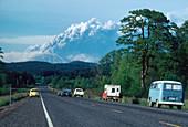 Motorists Watching Mount St. Helens Erupt