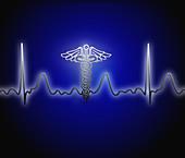 EKG with Caduceus