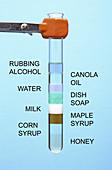 Liquids of Different Density