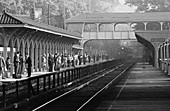 Commuters in Scarsdale,NY,1970s