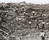 Hurricane Damage,Galveston,1900