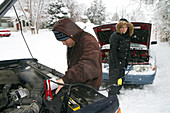 Jump Starting a Car in Winter Weather