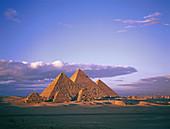 Giza Pyramids at Dusk,Egypt