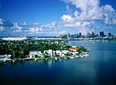 Cruise Boats Quay at Back,Miami,Florida