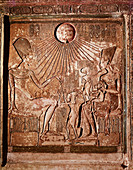 Portrait of Akhenaton and Nefertiti