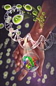Protein causing MRSA,illustration