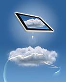 Head Cloud Pad,illustration
