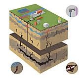 Fracking,illustration