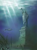 Statue of Liberty,illustration