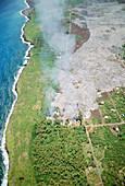 Lava Flow Destruction,Hawaii