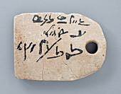 Egyptian Mummy Label,Drawing of Horus