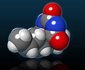 Pentobarbital Molecule,illustration