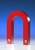 Horseshoe Magnet with Poles
