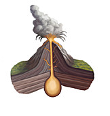 Volcanic Structure,illustration