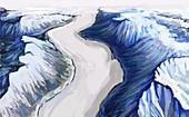 Melting Glacier (1 of 3),illustration