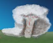 Tornado Formation,4 of 4,illustration