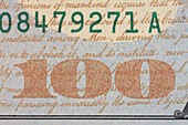 US 100 Dollar Bill Security Features
