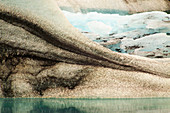 Glacier with Volcanic Ash,Iceland
