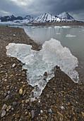 Ice Chunk on Beach,Spitsbergen